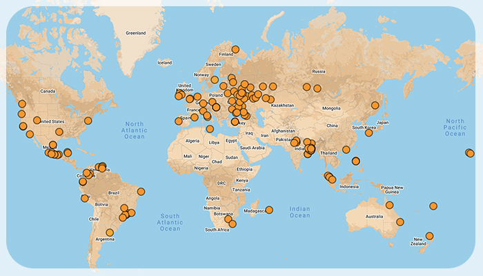 Worldwide Affiliate Branches and Centres